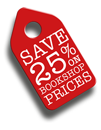 save 25% on bookshop prices