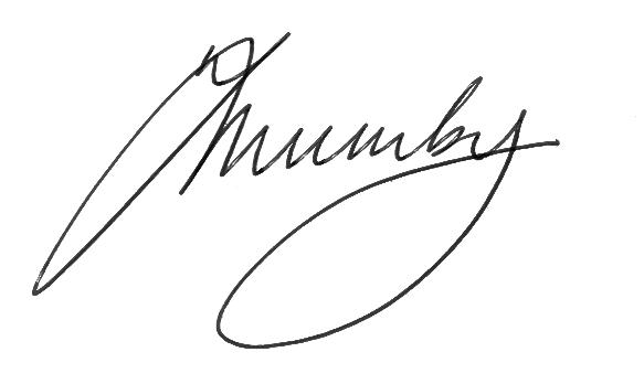 Trevor's signature