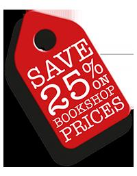 save 25% on bookshop prices